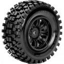 Rhythm 1/10 Shortcourse Tire Black Wheel with 12mm Hex Mounted