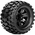 Rhythm 1/10 Monster Truck Tire Black Wheel with 1/2 Offset 12mm