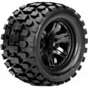 Rhythm 1/10 Monster Truck Tire Black Wheel with 0 Offest 12mm He