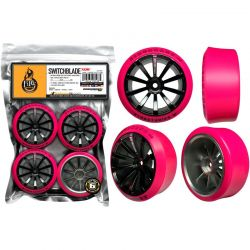 SWITHCBLADE XDR (9) 1/10 WHEEL/TIRE SET OF 4