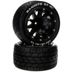 Duratrax Bandito ST Belted 2.8 Mounted F/R 14mm Black 2 [DTXC5540]