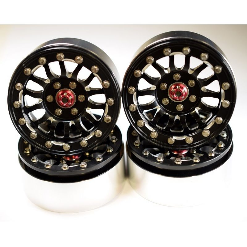 Aluminum Billet 2.2 Beadlock Wheels W/ 12mm Hex (a-Style) (4)