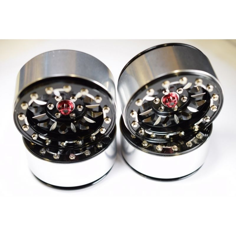 "Aluminum ""B-Style"" 2.2 Beadlock Wheels 12mm Hex (4)"