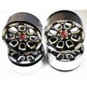 "Aluminum ""C-Style"" 2.2 Beadlock Wheels 12mm Hex (4)"