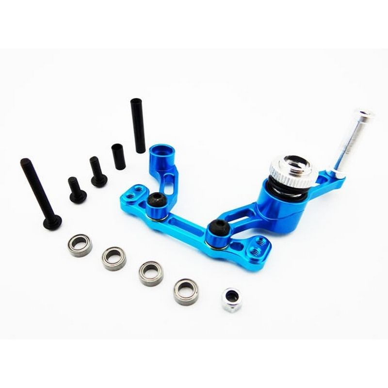 Aluminum Bellcrank Steering Saver with Bearings (Blue) - ECX 2wd