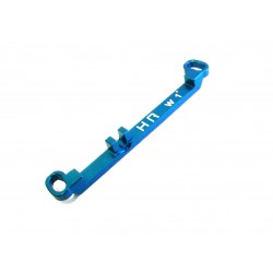 Aluminum Steering Link Long +1 Deg (Light Blue) - Kyosho Mr-03