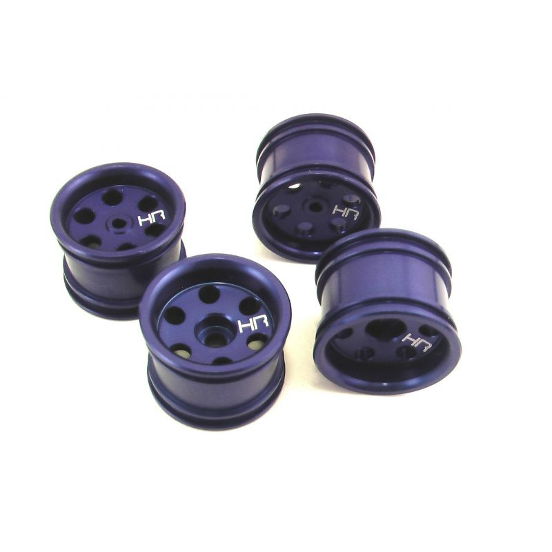 Aluminum Wide Offset Single-6 Wheels Set (Blue) - Losi Micro-T