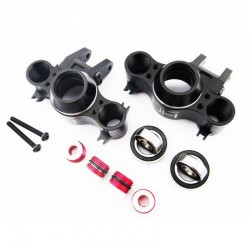 Hot Racing Aluminum Axle Carriers w/ Bearings & Carbon Arms (black) - Tra [RVO21XG01]