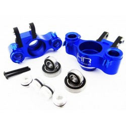 Aluminum Axle Carriers w/ Bearings & Carbon Arms (blue) - Tra
