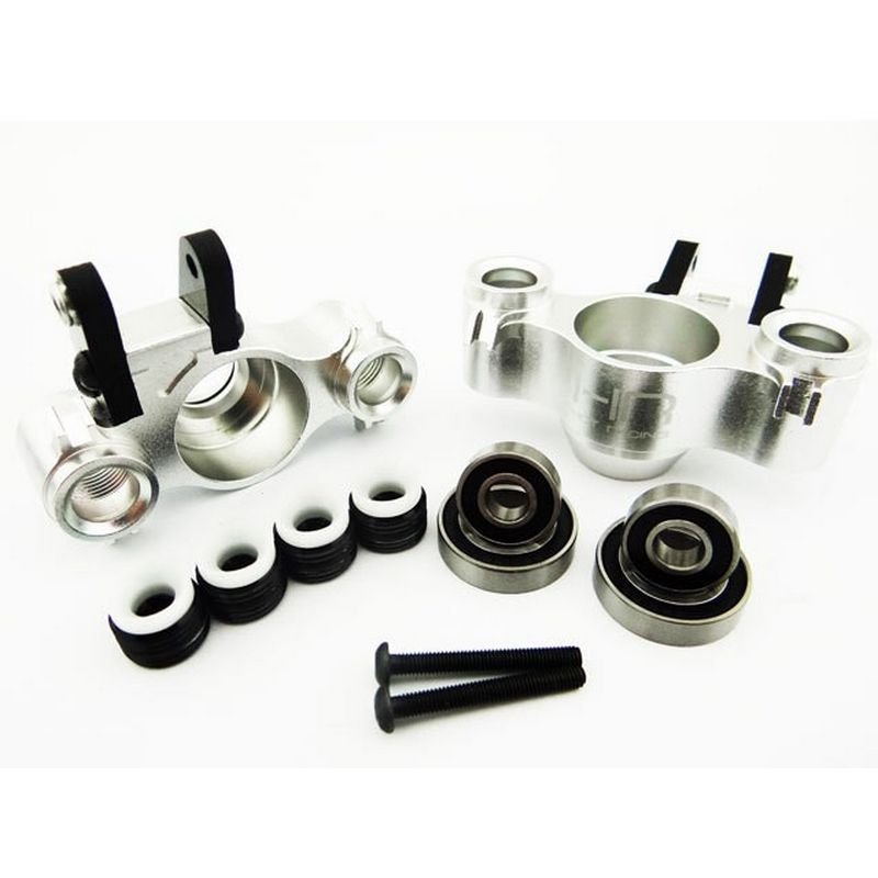 Hot Racing Aluminum Axle Carriers w/ Bearings & Carbon Arms (silver) - Tra [RVO21XG08]