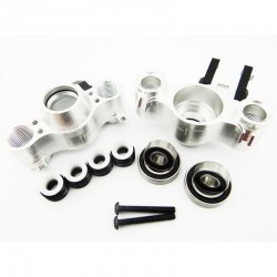 Aluminum Axle Carriers w/ Bearings & Carbon Arms (silver) - Tra
