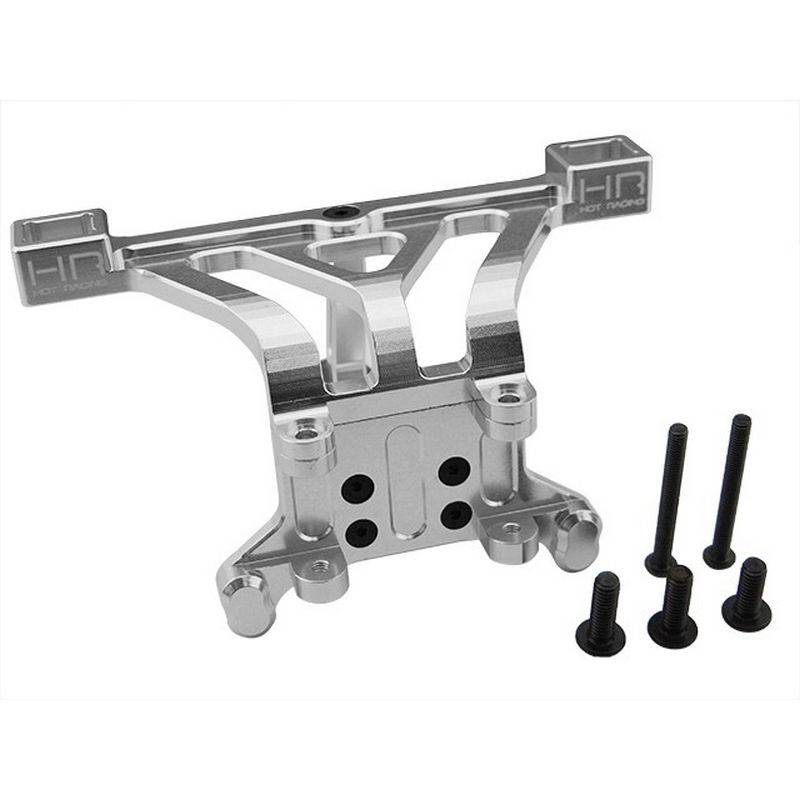 Hot Racing Aluminum Front Body Mount (Silver) - E-Revo Revo Slayer Summit [RVO29M08]