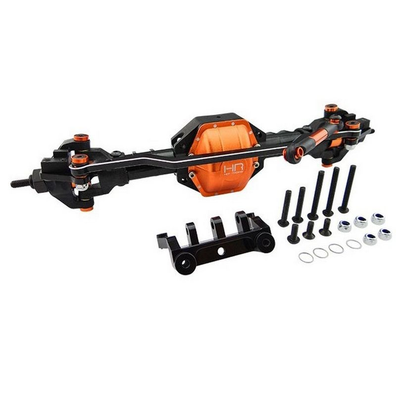 Hot Racing Front Axle Assembly Aluminum & Composite (Orange) - Axial Scx10 [SCX12GF03]