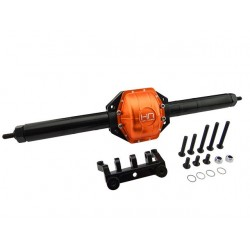Rear Axle Assembly Aluminum & Composite (Orange) - Axial Scx10