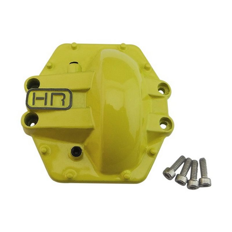 Hot Racing Yellow Metal Low Profile AR60 Diff Cover Rear Yeti AX10 [WRA12CR04]