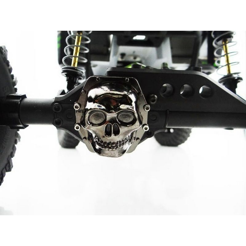 Metal Skull AR60 Diff Cover (Black Chrome) - Yeti Wraith AX10