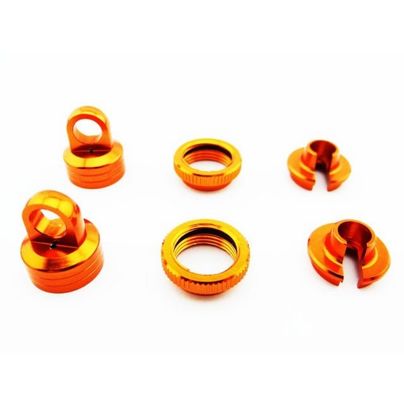 Aluminum 10mm Shock Upgrade Kit (Orange) - Yeti Wraith AX10 EXO