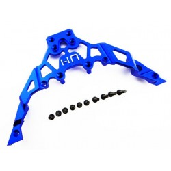Aluminum Front Upper Chassis Bulkhead Clip (Blue) - Axial Yeti