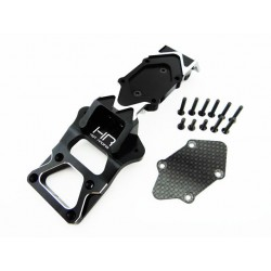 Aluminum and Carbon Fiber Front Bulkhead and Skid Plate - Axial