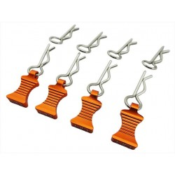 1/10 Orange Aluminum Ez Pulls (4) Body Clips (8)