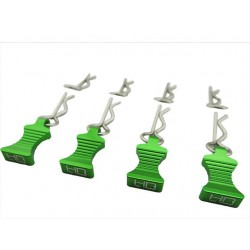 1/10 Green Aluminum Ez Pulls (4) Body Clips (8)