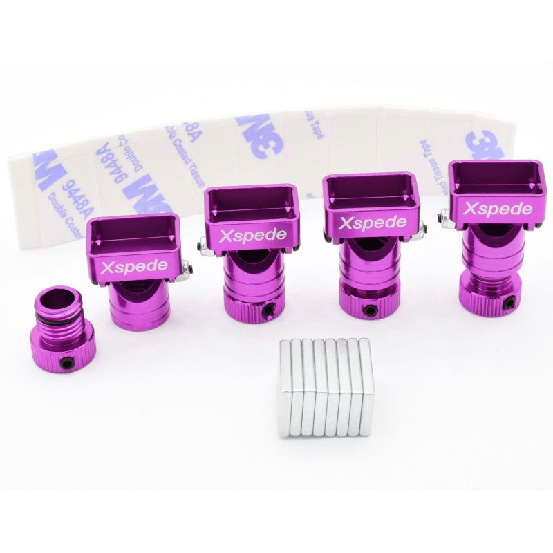 X Spede Purple Stealth Aluminum Body Mount [ACC29M07]