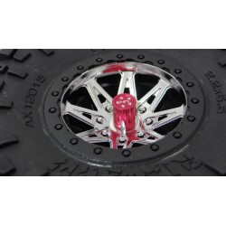 Aluminum Wheels Nut Caps and M4 Nuts (Red)(4) - Flat Head