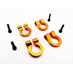 1/10 Scale Aluminum Orange Tow Shackle D-Rings (4)