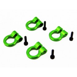 1/10 Scale Aluminum Green Tow Shackle D-Rings (4)