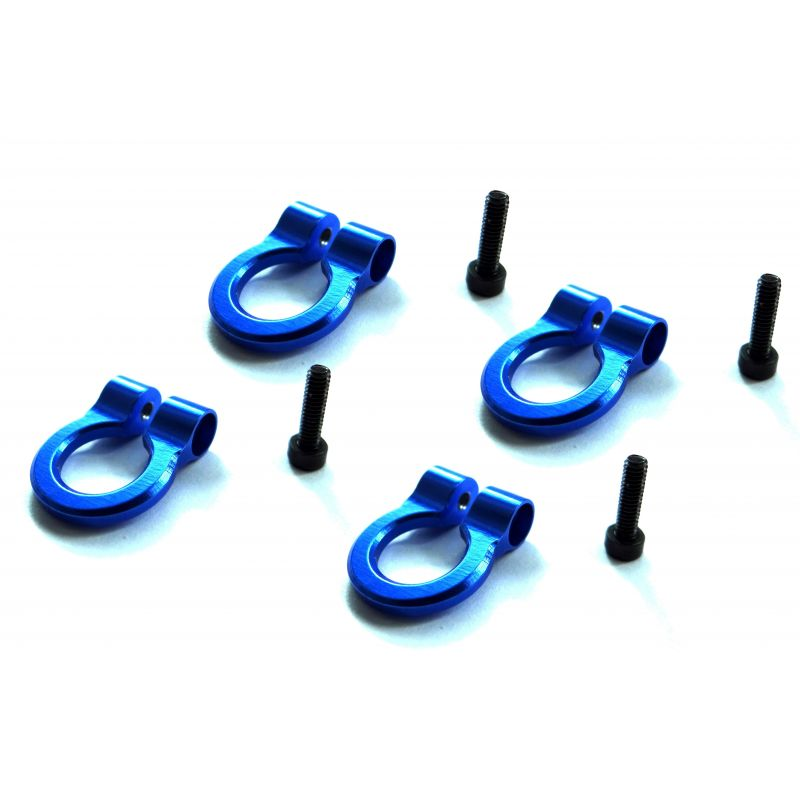1/10 Scale Aluminum Blue Tow Shackle D-Rings (4)