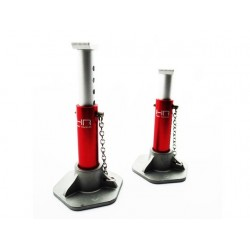 Red 1/10 Scale Aluminum Jack Stands
