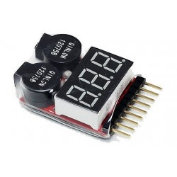 1-8S LiPo Voltage Checker/Warning Buzzer
